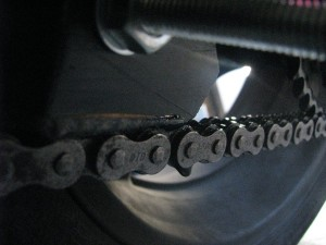 oil through the chain