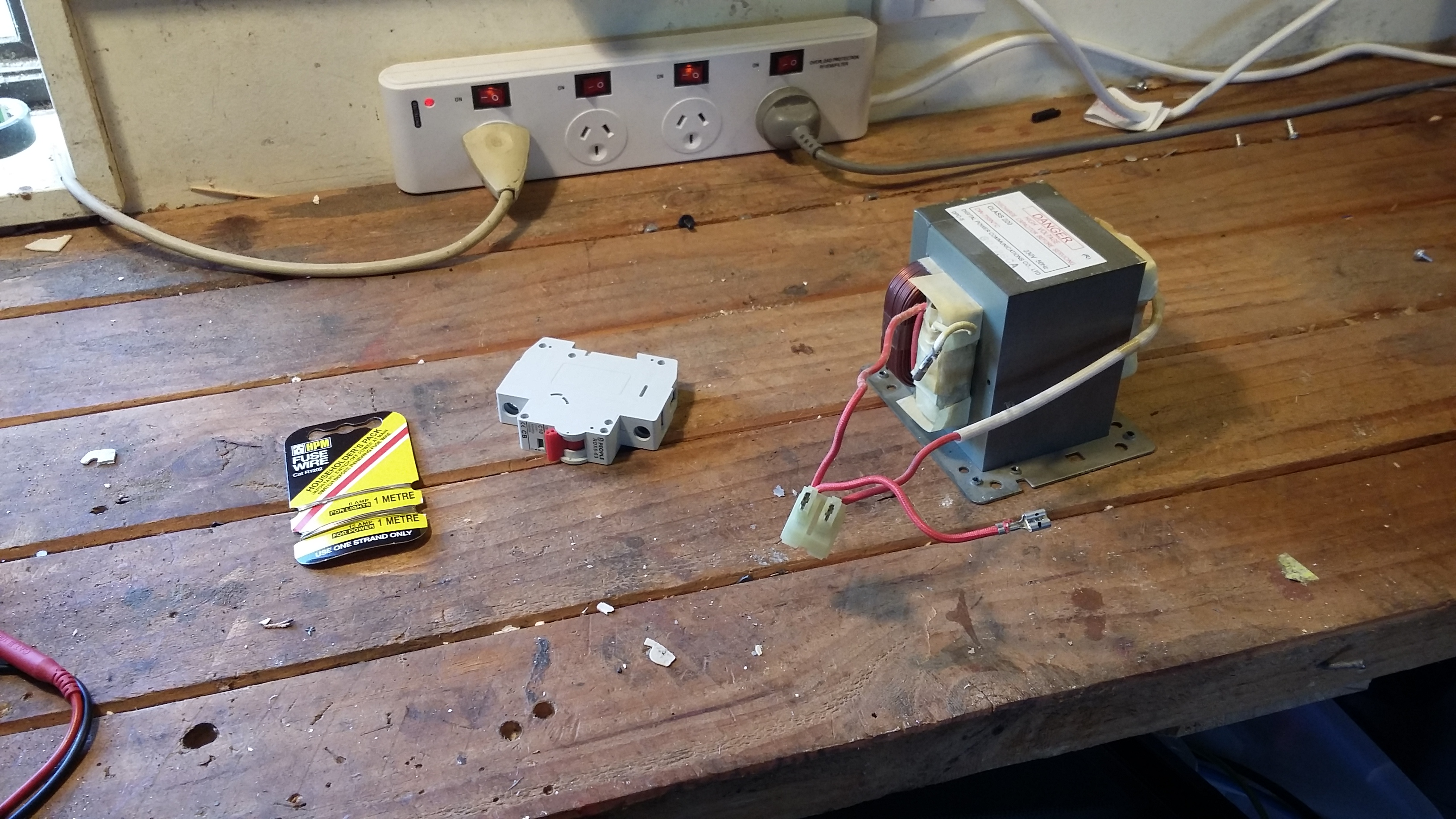 Spot Welder From A Broken Microwave Faulty Circuit Breaker Or Wiring Also Bought